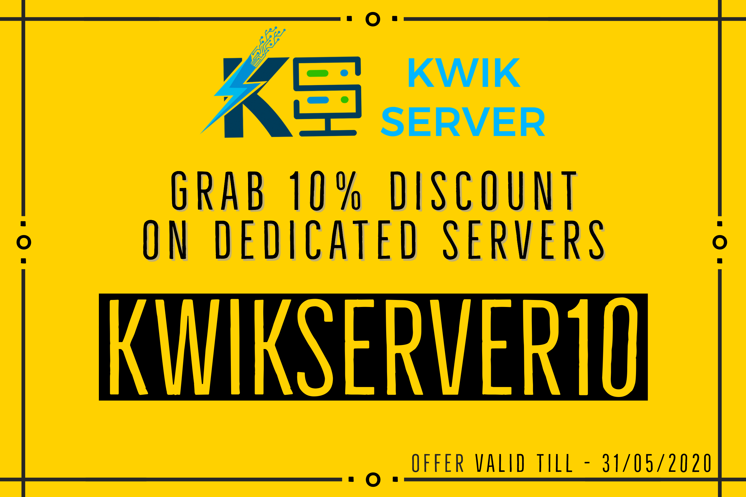 10% discount on dedicated server